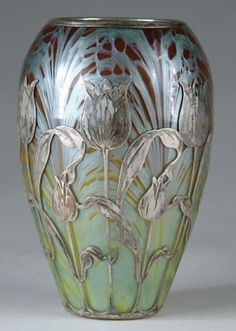Zsolnay art nouveau vase, 1900.. not arts and crafts but complimentary