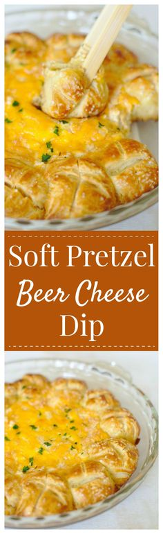Soft Pretzel Beer Ch Soft Pretzel Beer Cheese Dip The ultimate tailgating appetizer with an Oktoberfest spin! Simple soft pretzels baked with a gooey beer cheese dip in the middle! Pretzel Dip Recipes, Cheese Dip Recipes, Beer Recipes, Easy Appetizer Recipes, Yummy Appetizers, Cooking Recipes, Holiday Appetizers, Yummy Snacks, Beer Cheese