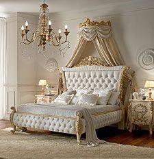 Itália estilo europeu clássico branco e da cor do ouro king size ...