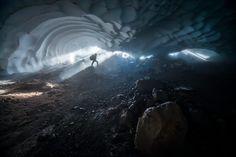 "Mount Rainier ice caves Washington   FRANCOIS-XAVIER ""FIX"" DE RUYDTS / SPECIAL TO THE SEATTLE TIMES Moving To Seattle, Ice Caves, Seattle Times, Washington State, Mount Rainier, Places, Image, Lugares"