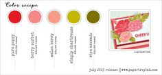 Color Recipe #5 - July 2015 (Pure Poppy, Berry Sorbet, Melon Berry, Simply Chartreuse, Ripe Avocado)