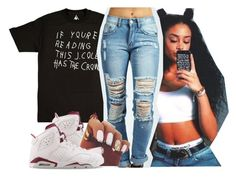 """"" by thailyn-nicole ❤ liked on Polyvore featuring Boohoo and NIKE"