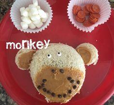 Monkey sandwich  Fun with food