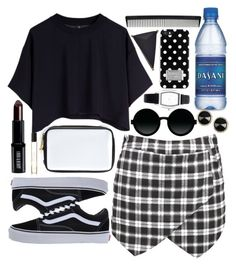"""""""I like being in black"""" by jesscrozier08 ❤ liked on Polyvore featuring Cheap Monday, Vans, CÉLINE, Lord & Berry, Byredo, MICHAEL Michael Kors, T3, Moscot, Wet Seal and Oasis"""