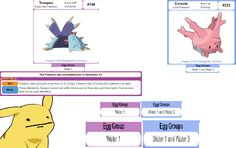 Apparently Toxapex can breed with Corsola, its prey. | Pokémon | Know Your Meme