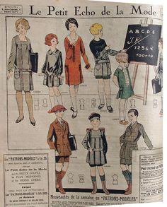 Le Petit Echo de la Mode gives us 1926 children's wear.