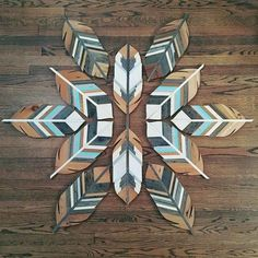 Feather decor - Birds of a feather jlwoodworx reclaimedwood recycledwood woodart feather… Diy Wood Projects, Wood Crafts, Woodworking Projects, Art Projects, Teds Woodworking, Woodworking Classes, Design Projects, Wooden Wall Art, Wooden Walls
