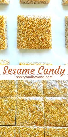 Sesame Candy-This delicious and crunchy sesame candy recipe is so easy to make! You only need 2 ingredients! Sesame Candy-This delicious and crunchy sesame candy recipe is so easy to make! You only need 2 ingredients! Homemade Sweets, Homemade Candies, Christmas Treats, Christmas Baking, Christmas Crack, Sesame Seeds Recipes, Recipe With Sesame Seeds, Sesame Seed Cookies Recipe, Sesame Brittle Recipe