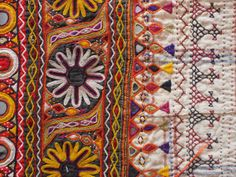 Walter G - Tales of Textiles: vintage Hand Work Embroidery, Indian Embroidery, Embroidery Art, Embroidery Patterns, Indian Patterns, Textile Patterns, Textile Prints, Kutch Work, Bohemian Pattern