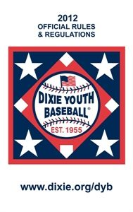 Dixie Online Store 2015 Official Dyb Rule Book Youth Baseball Little League Baseball Baseball Pitching