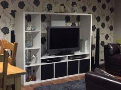 lappland ikea surround sound - Google Search Living Room Update, Home Living Room, Interior Design Living Room, Living Room Designs, Small Apartment Decorating, Apartment Ideas, Ikea Tv, Flat Ideas, Wood