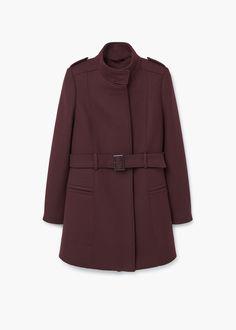 Belt wool coat | MANGO