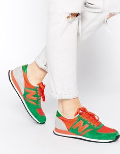 best sneakers 5f869 be465 New Balance 420 Green Trainers at asos.com