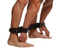 Strict Leather Easy Access Restraints System - The Strict Leather Leather Easy Access Restraints System is a comfortable, versatile and inexpensive spreader system. The high quality locking leather ankle and wrist cuffs are attached to leather wrapped spreader bar. The system allows a person to be strapped in with their wrists and ankles together and spaced evenly apart. $98 https://www.thrillsfulfilled.com/product/strict-leather-easy-access-restraints-system/