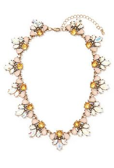 Iridescent Faux Stone Statement Necklace | Forever 21 - 1000163317