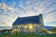 Never. Gets. Old. This is the Church of the Good Shepherd at Lake Tekapo New Zealand. #newzealand #travel #church #tekapo #lake #sunrise #nzmustdo #beauty #wanderlust by curtissimmons