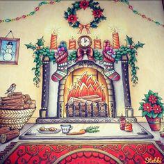 Johanna Basford - Christmas colouring book