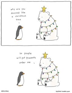 22 Hilarious Christmas Comics to Get You in the Festive Mood - funny comics - 22 Hilarious Christmas Comics to Get You in the Festive Mood Funny Animal Comics, Animal Memes, Funny Comics, Funny Penguin, Panda Funny, Christmas Comics, Christmas Humor, Christmas Tree, Christmas Cartoons