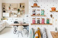 9 Ideas For Using Pegboard And Dowels To Create Open Shelving