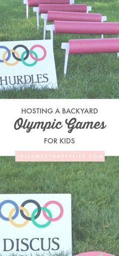 Olympic Games DIY Olympics Backyard Olympics Kids Olympics Outdoor Games for Kids Olympics 2018 Olympic Games For Kids, Olympic Idea, Outdoor Games For Kids, Backyard For Kids, Backyard Games, Backyard Ideas, Outdoor Fun, Kids Olympics, Summer Olympics