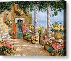 Le Colonne Sulla Terrazza by Guido Borelli - Le Colonne Sulla Terrazza Painting - Le Colonne Sulla Terrazza Fine Art Prints and Posters for ...