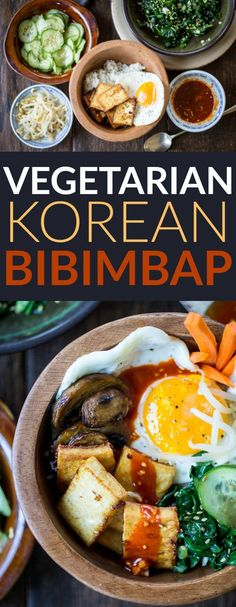Vegetarian Korean Bibimbap Bowls http://thewanderlustkitchen.com/vegetarian-korean-bibimbap-bowls/
