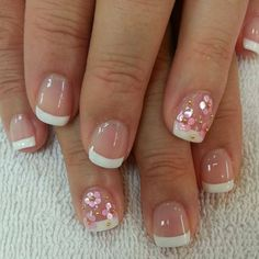 Simple french nail designs for short nails