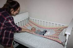 Crescent Womb Newborn Crib Hammock - Newborn safety bed - reduces risk of sids Pink New Baby, Baby Hammock, Portable Bed, Cocoon, Baby Safety, Safety Bed, Cot Bedding, Wishes For Baby, Bedding