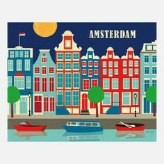Amsterdam Print, $22, now featured on Fab.