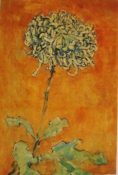 https:piet mondrian Chrysanthemum Piet Mondrian, Chrysanthemum, Illustration Botanique, Guache, Dutch Painters, Dutch Artists, Botanical Art, Art Oil, Figurative Art