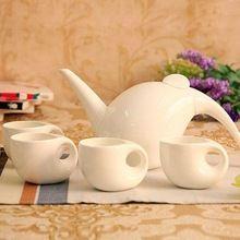 Gota de Agua Grande de Té Juego de Café de Porcelana de Cerámica de Estilo japonés vasos de Porcelana CE/UE Juegos de Té en Una Tetera…