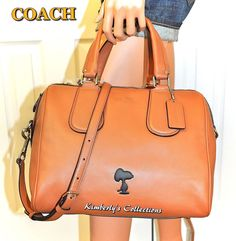 COACH X Peanuts SNOOPY LIMITED EDITION Leather Surrey Crossbody Satchel Bag NWT #Coach #handbags #purses #Snoopy #Peanuts #collectors #gifts