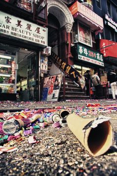 NYC. Chinatown. Chinese New Year aftermath