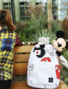 Mickey Mouse + Herschel Supply Co. collection. | [ https://style.disney.com/fashion/2016/03/15/herschel-mickey/ ]