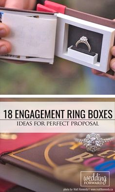 18 Creative Engagement Ring Boxes For Perfect Proposal ❤ We found beautiful and…