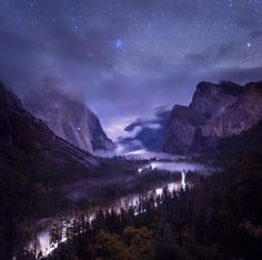Low fog through Yosemite Valley and bright stars created this amazing moment at Yosemite National Park in California. Toby Harriman snapped this photo from the park's Tunnel View. His favorite part of the photo: The climber's headlamp that is visible mid way up El Capitan on the left. Photo courtesy of Toby Harriman.