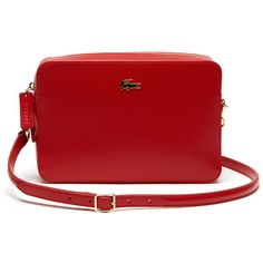692c3c3de41251 Lacoste Women`s Chantaco Leather Crossover Bag - Square Format ( 205) ❤  liked