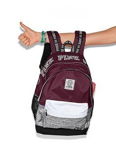 Pink Brand Backpack, Backpack Brands, Backpack Purse, Black Backpack, Mochila Victoria Secret, Victoria Secret Pink, Victoria Secret Backpack, Outfits, Fashion Handbags