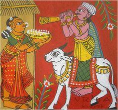 Straw & Pipal leaf Handmade Greeting Card - Tamil Nadu, South India http://www.vrksa.net/gallery.html