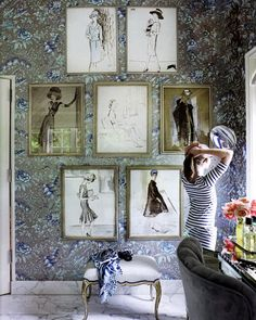 Dressing Room Envy. awesome sketches- via town and country    so cute for a bedroom!!