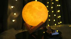 New Print Moon Lamp Colorful Change Touch Usb Led Night Light Home Decor Creative Gift. : Check out our website to place order link in bio ☝️ : Usb, Moon Light Lamp, Moon Decor, Beautiful Moon, Night Lamps, Led Night Light, Aliexpress, Home Decor Styles, Led Lamp