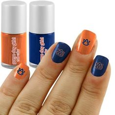 NAILS Auburn Decals Two Colors