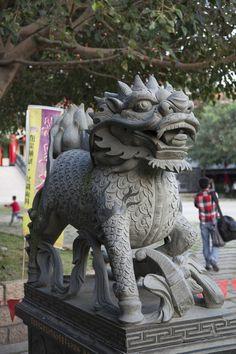 Stone Lion Chunghwa County Taiwan