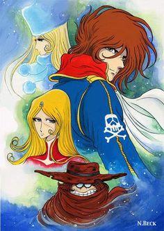 Hobbies Questions And Answers Anime Toon, Anime Comics, Manga Anime, Ulysse 31, Space Pirate Captain Harlock, Japanese Cartoon, Manhwa Manga, Funny Cartoons, Manga Girl