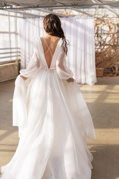Organza Bridal, Wedding Dress Organza, Wedding Dress Sleeves, Long Sleeve Wedding, Lace Dress, Sleeve Dresses, Boho Wedding Gown, Bridal Wedding Dresses, Dream Wedding Dresses