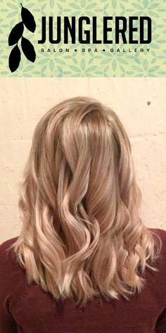 Soft blonde color melt. Blonde balayage highlights.