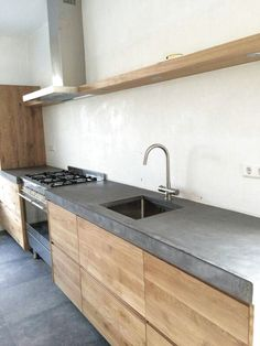 House Kitchen Ideas Wood Countertops 62 Ideas For 2019 Outdoor Kitchen Design, Modern Kitchen Design, Home Decor Kitchen, Kitchen Interior, New Kitchen, Home Kitchens, Kitchen Ideas, Outdoor Kitchen Countertops, Kitchen Cabinets