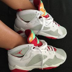 Shop Women's Jordan Red Gray size 8 Athletic Shoes at a discounted price at Poshmark. Your Shoes, New Shoes, Jordan Shoes, Shoes 2015, Shoe Department, Buy Shoes Online, Womens Jordans, Sneaker Boots, High Top Sneakers
