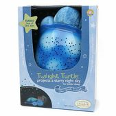 Plush Toy Transforms Any Room Into A Starry Night Sky  Eases Fear of the Dark  Projects a Starry Night Sky for Better Sleep  The National Parenting Center Seal of Approval • 2006 Creative Child Magazine Preferred Choice •   iParenting Award Winner • Baby Talk Editor s Choice  Twilight Turtle is a plush toy that transforms any room into a starry night sky to help comfort children to sleep. From within his plastic shell, Twilight Turtle projects a magical constellation of stars onto