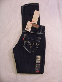 Levi's 524 Jean Too Super Low Skinny Leg Stretch Color Dark Denim 114990003 #Levis #SkinnyLeg